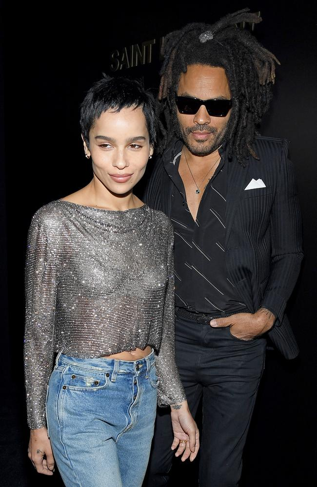 Zoe Kravitz and her rock star father, Lenny. Picture: Getty Images