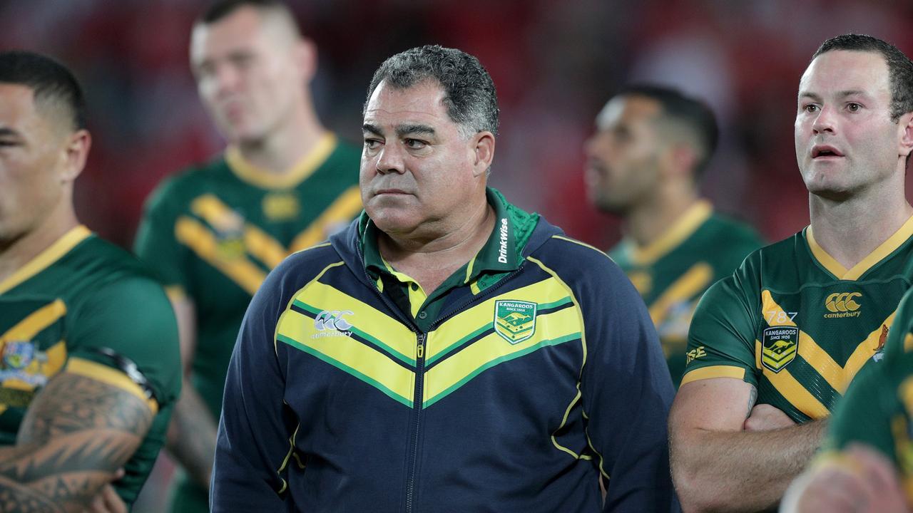 A dejected looking Mel Meninga, head coach of Australia.