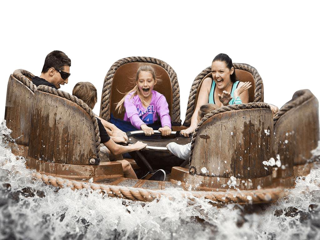 A Dreamworld website image of the Thunder River Rapids ride.