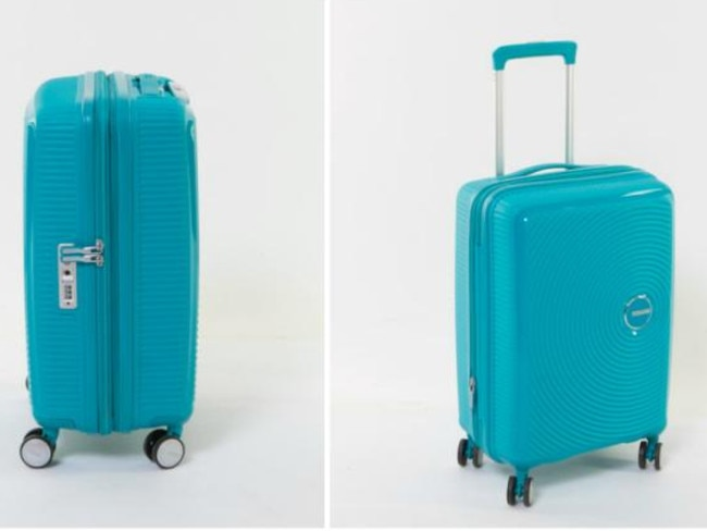 The American Tourister took out top spot for its ease of use and puncture test. Picture: Choice