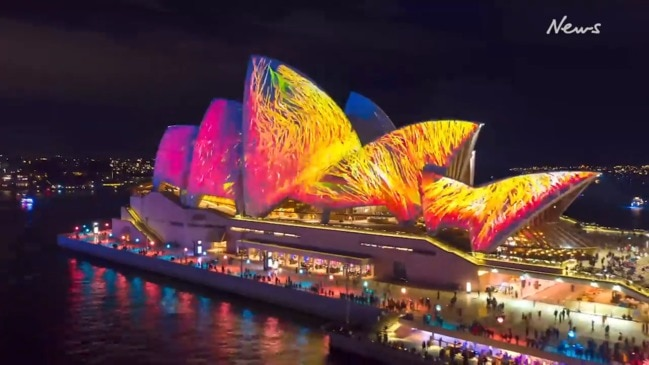 Incredible time-lapse of Sydney's Vivid festival