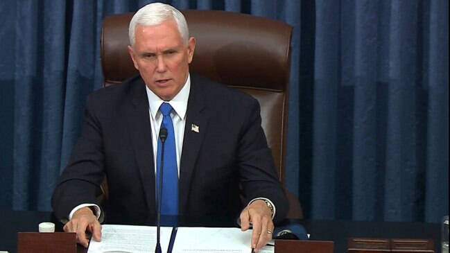'Today Was a Dark Day' for the U.S. Capitol, Pence Says