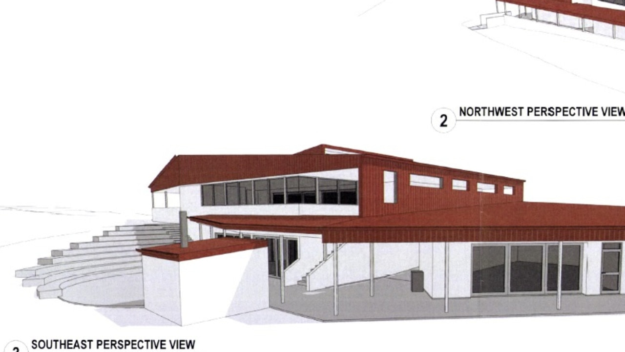 Image of the two-storey building approved for the school.