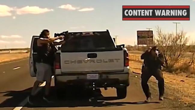 Horrific moment drug dealer shoots cop