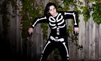 How to make a glow in the dark skeleton costume
