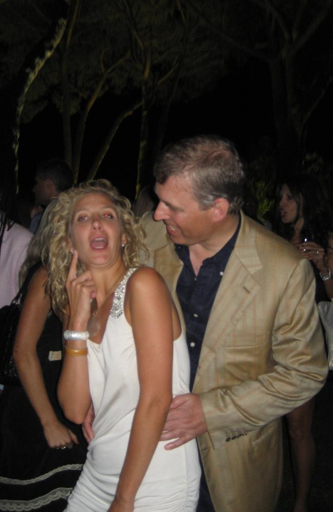 Andrew also cuddled up a blonde woman at the party. Picture: Coleman-Rayner