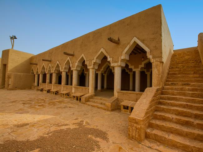 The Ghat heritage village is a great example of the country's traditional Najdi-style architecture, including the buildings of the old souk (market place), with its iconic triangular-shaped arches. Picture: SCTH