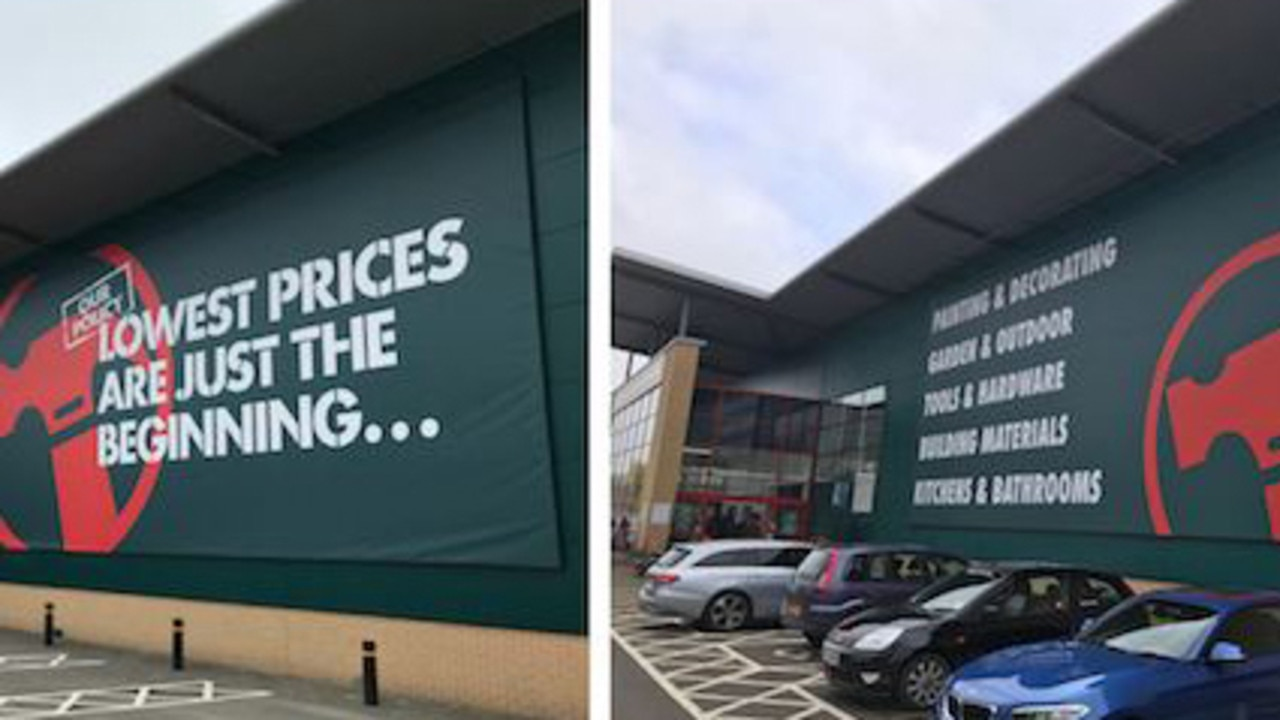 Bunnings ill-fated UK stores ditched the slogan before their Australian counterparts.
