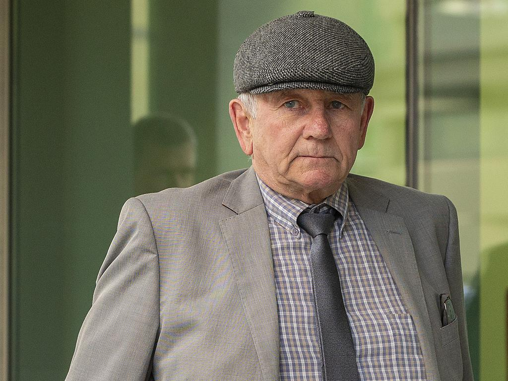 Don Spiers, father of Sarah Spiers, leaves court in June. Picture: Bill Russell/Getty Images.