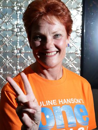 She's back! Pauline Hanson's One Nation party has picked up at least one Senate seat. Picture: Liam Kidston.