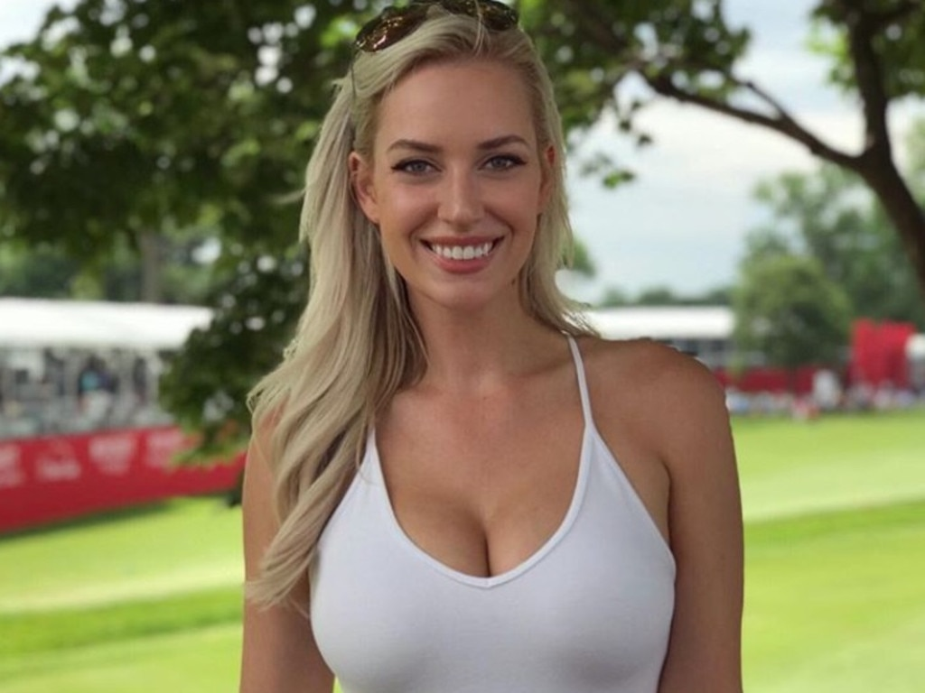 Paige Spiranac turns heads with her swing.
