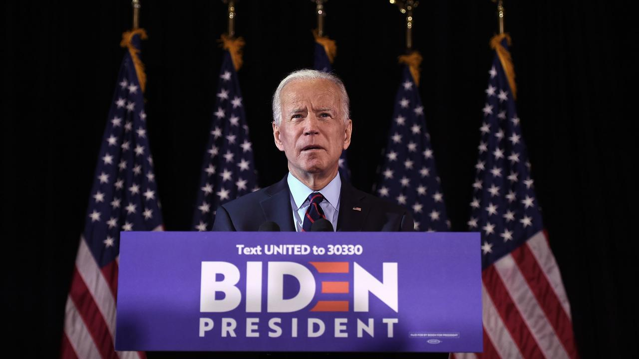Democratic primary candidate Joe Biden makes a statement on whistleblower report and President Trump