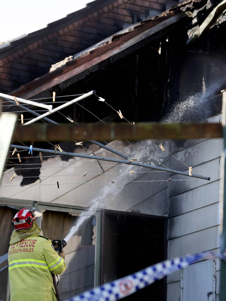 The blaze tore through the home. Picture: NCA NewsWire / Damian Shaw