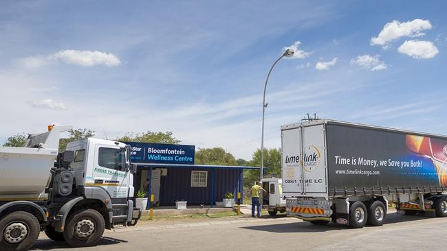 North Star Alliance mobile truckies clinic on a highway in South Africa. Picture: Quintin Mills