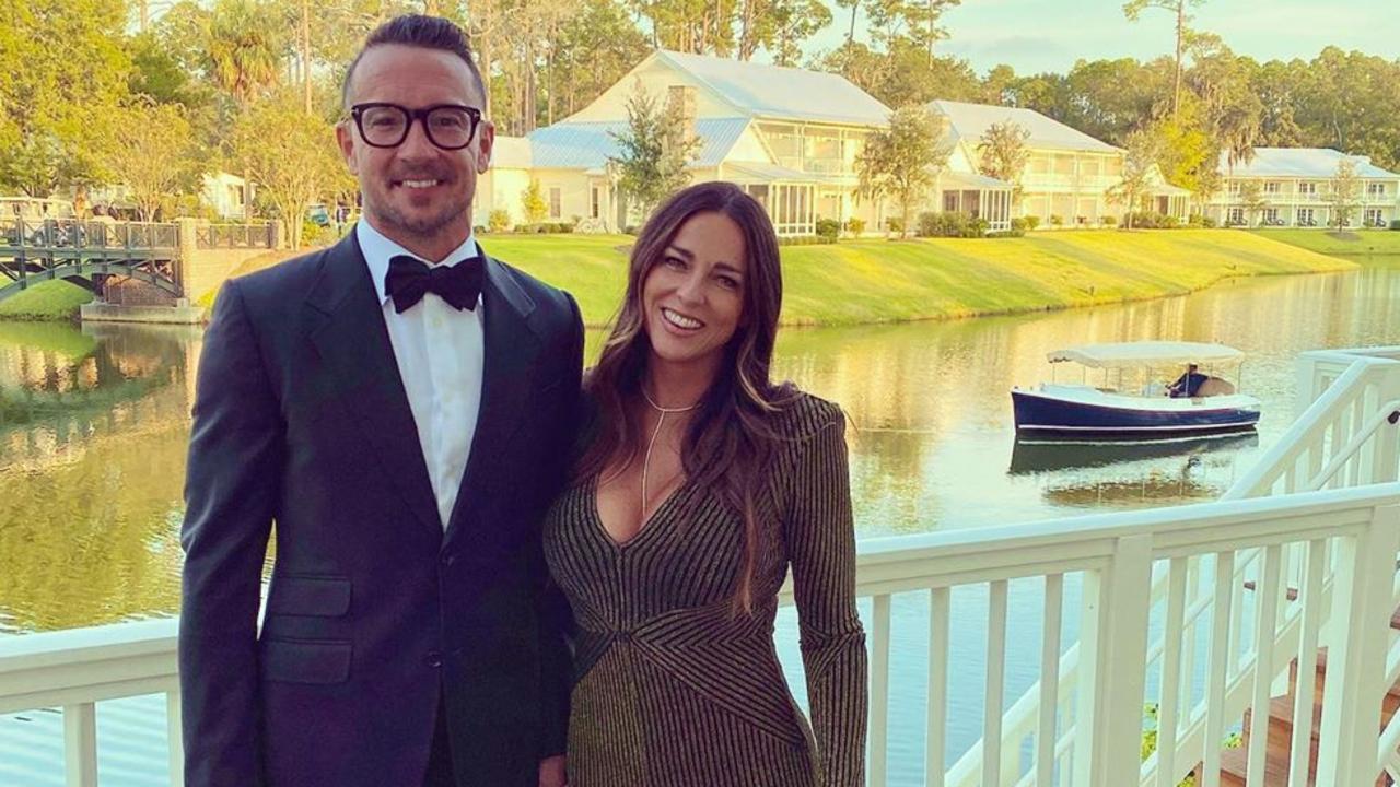 Mr Lentz with wife Laura. Picture: Instagram