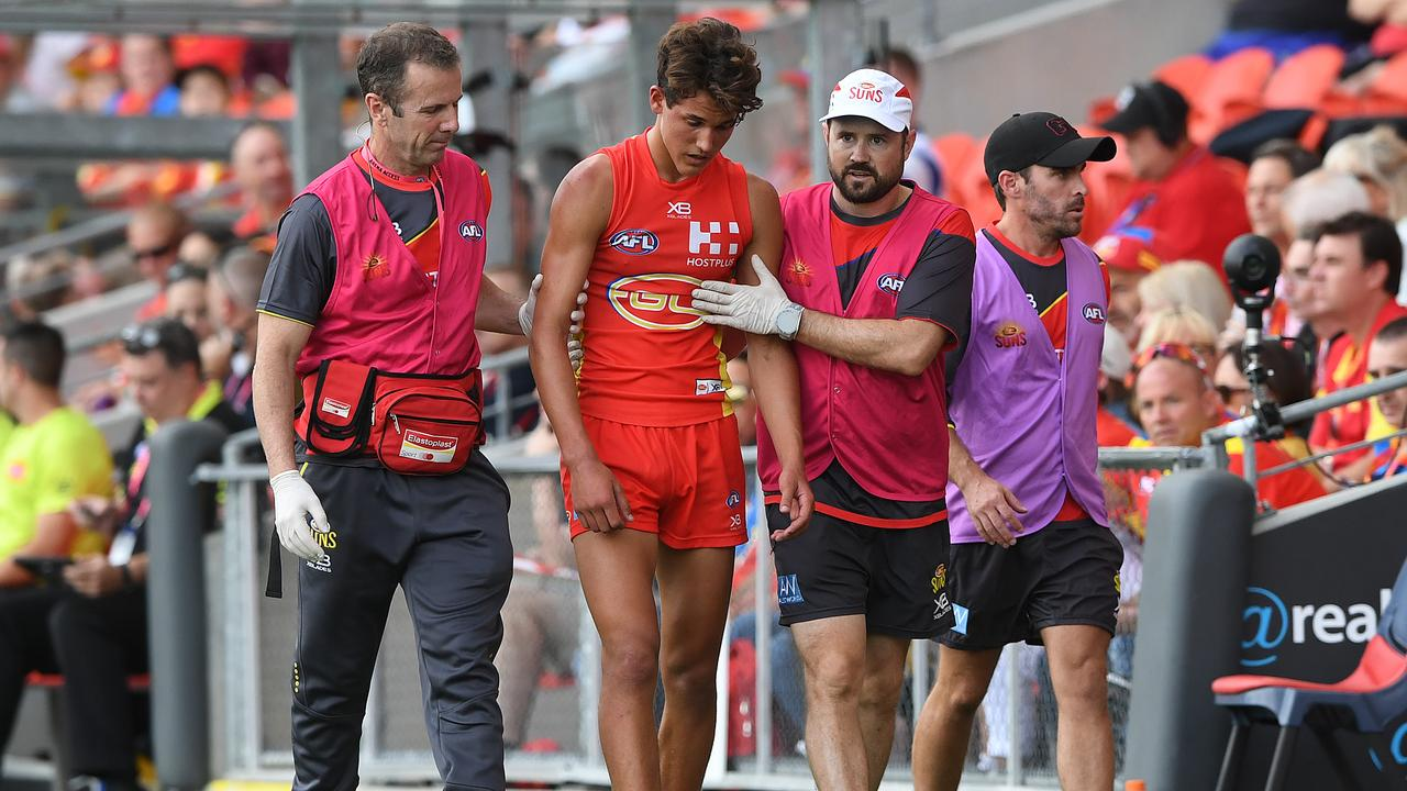 The AFL will undertake two major concussion related projects in season 2021. Picture: Dave Hunt