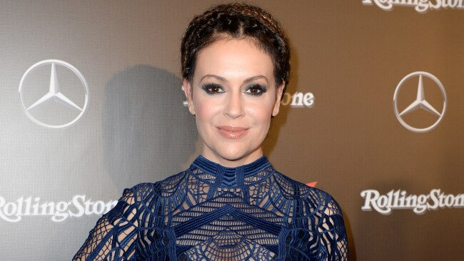 Alyssa Milano has revealed she was assaulted on a movie set by her co-star. Image: Getty.