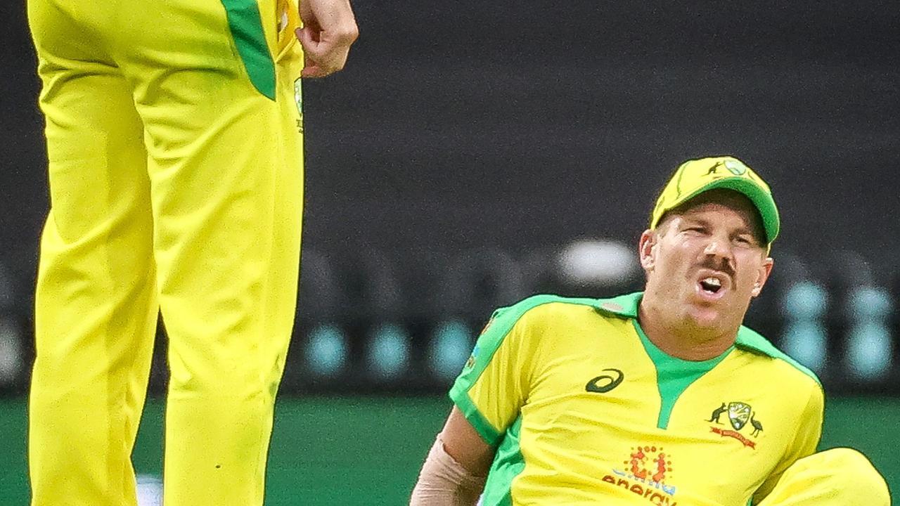 David Warner's injury has opened the door for a Burns-Pucovski partnership. Picture: David Gray / AFP
