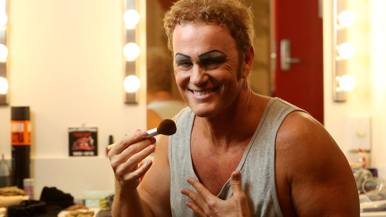 Craig McLachlan in his dressing room for the Behind the scenes feature of the Rocky Horror stage show at the Adelaide Festival Centre. Picture: Calum Robertson