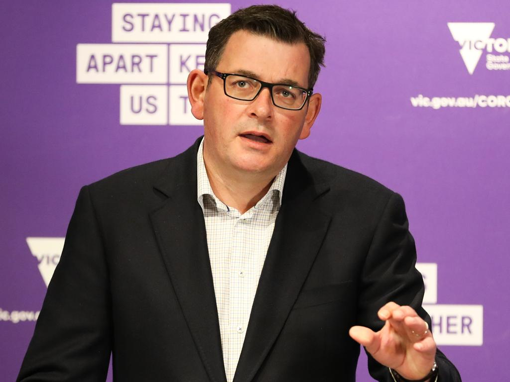 Premier of Victoria Daniel Andrews warned people who were infected could be getting check ups from the ADF. Picture: Asanka Ratnayake/Getty Images