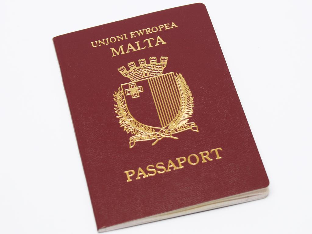 The passport of Malta, which is part of the European Union.