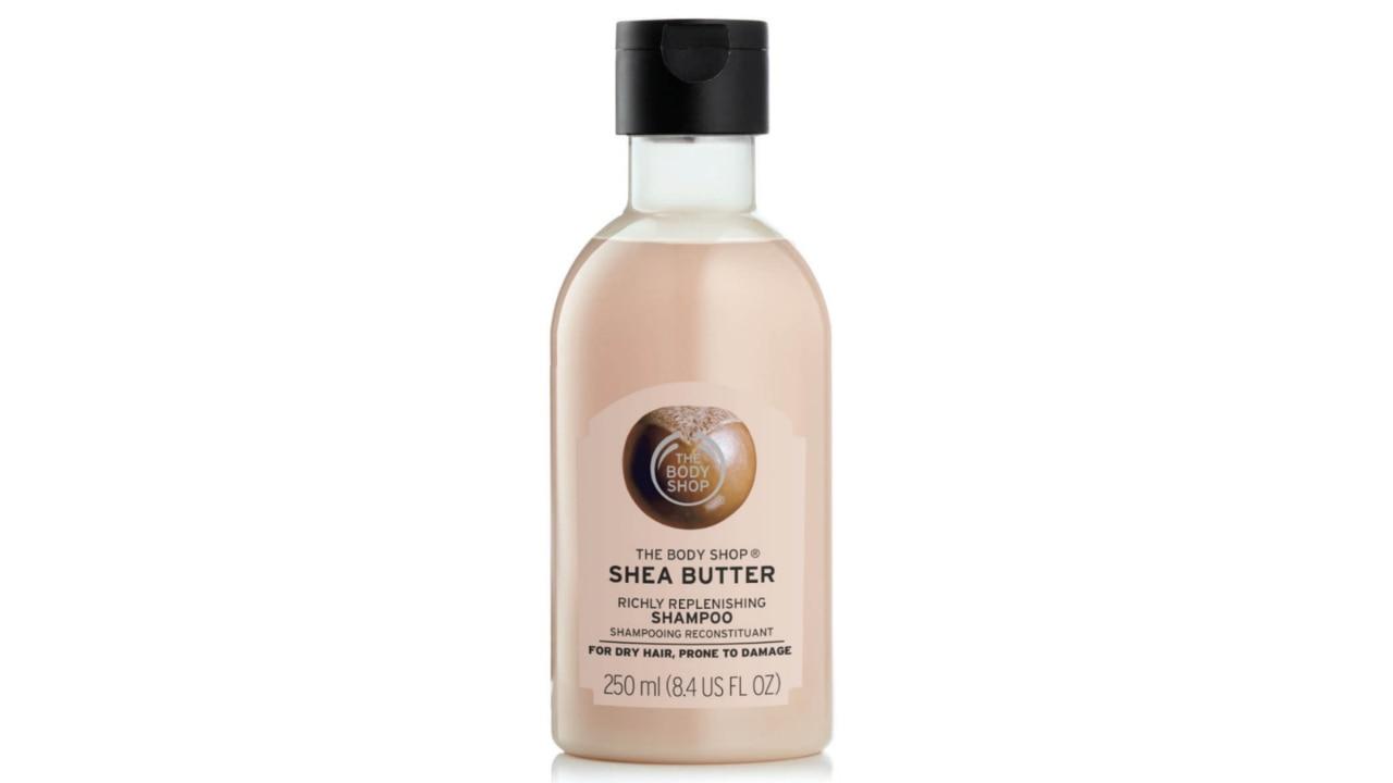 Shea Butter Richly Replenishing Shampoo. Image: The Body Shop.
