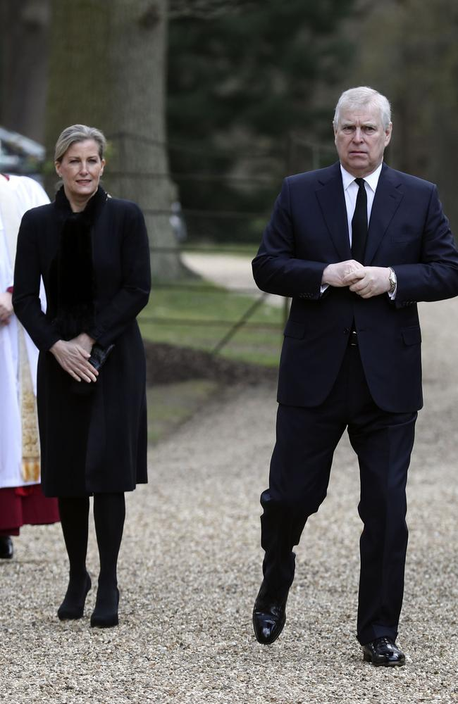 Prince Andrew, Duke of York and Sophie, Countess of Wessex. Picture: Steve Parsons