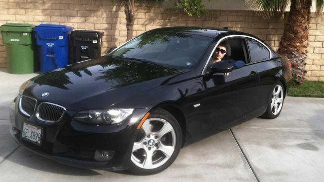 Deadly ... Elliot Rodger  in his black BMW, which he drove during his killing spree.