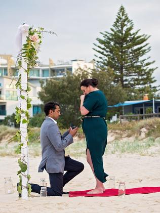 Michael and Shannon Palm Beach Proposal. Photo: Jamie Grace Photography