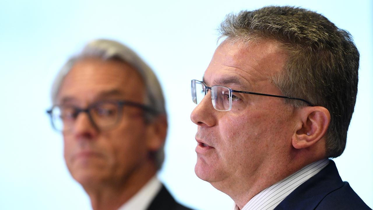 FFA CEO David Gallop (left) and FFA Chairman Chris Nikou