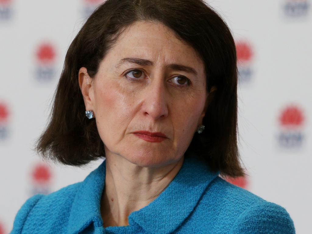 NSW Premier Gladys Berejiklian said she was 'absolutely disgusted' by the anti-lockdown protest. Picture: Lisa Maree Williams Pool/Getty Images