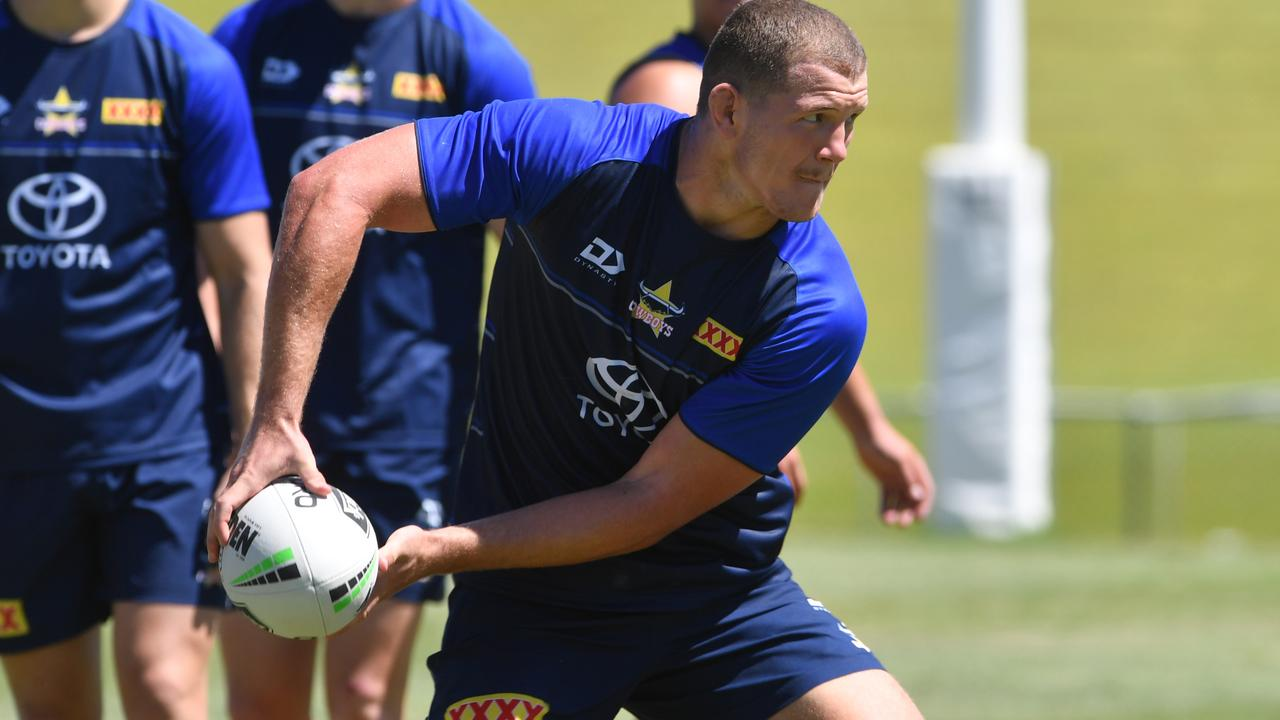 North Queensland Cowboys pre-season training at the former 1300Smiles Stadium. Tom Gilbert. Picture: Evan Morgan