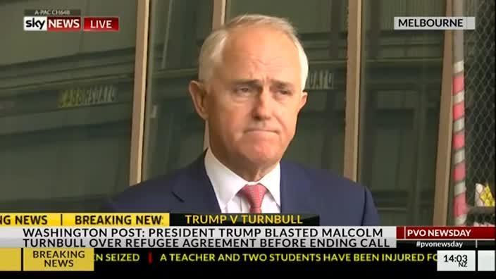 Turnbull - I'm not going to comment on conversation with Trump