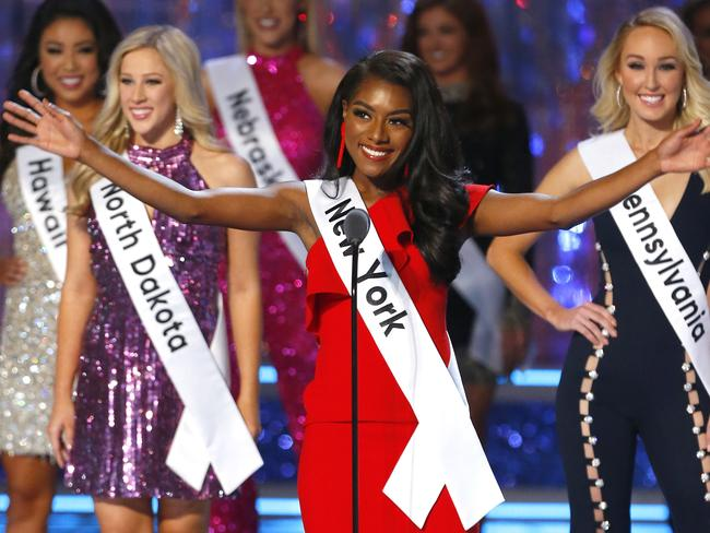 This year is the first in the pageant's 98-year history that contestants haven't competed in a swimsuit competition. Picture: AP/Noah K. Murray