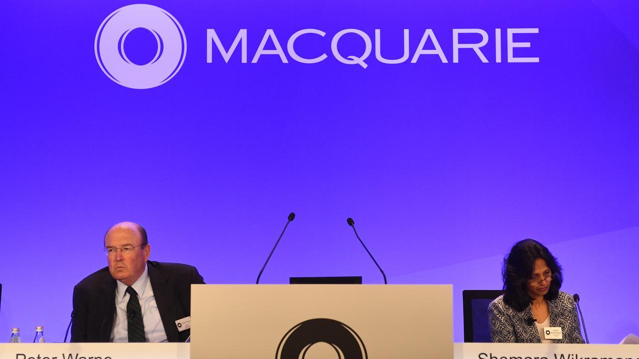Macquarie Group, run by Australia's best-paid female executive, Shemara Wikramanayake, is top of JP Morgan's big bank pick list. Picture: Dean Lewins / AAP