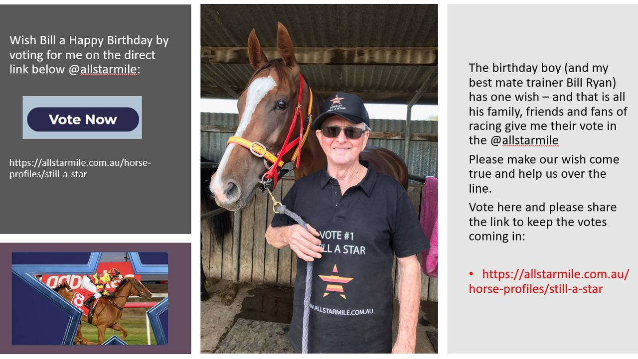 The Facebook page for All-Star Mile aspirant Still A Star and trainer Bill Ryan.