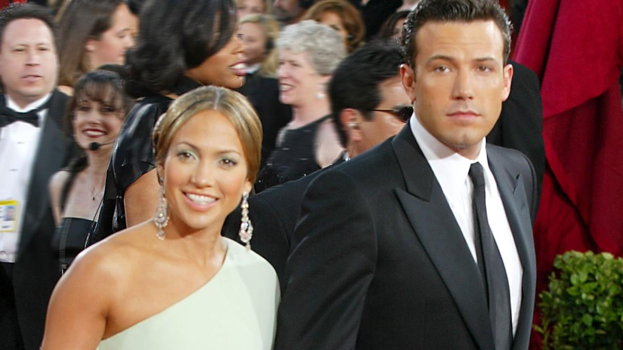 Dubbed 'Bennifer', the iconic pair met while filming the 2003 box office flop Gigli. Picture: Getty Images