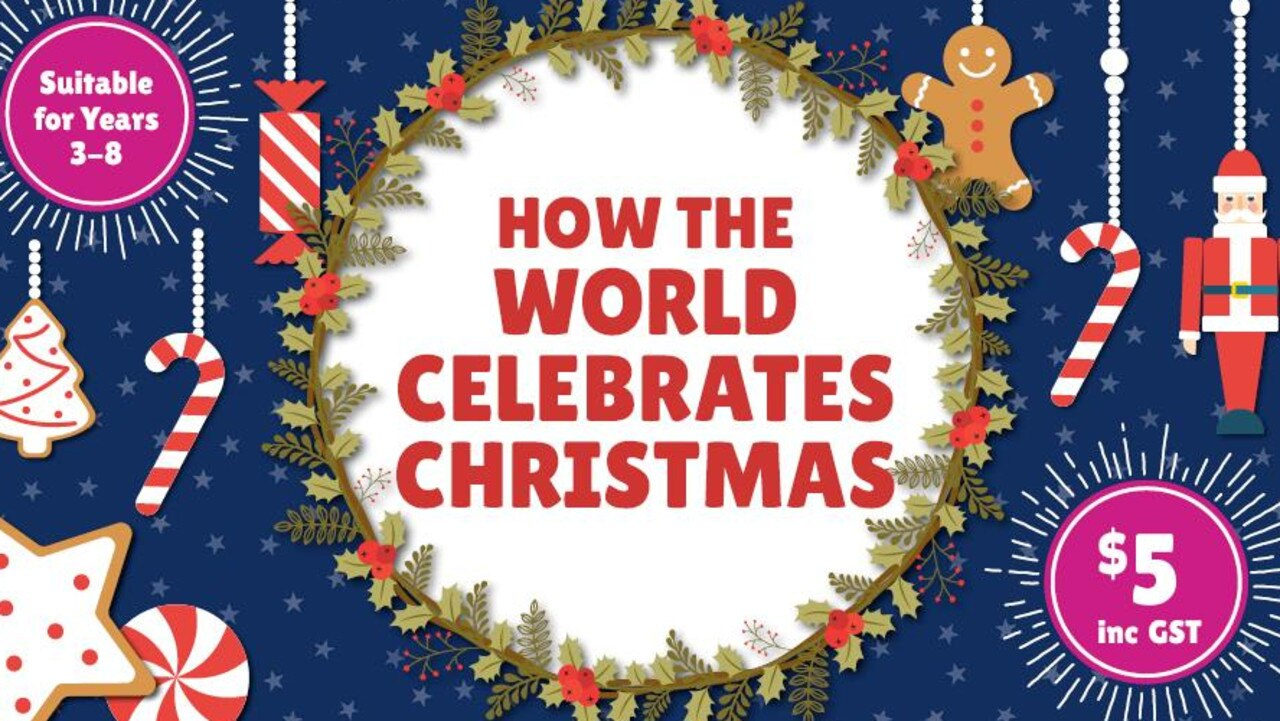 Artwork for Kids News digital inquiry kit on How the World Celebrates Christmas