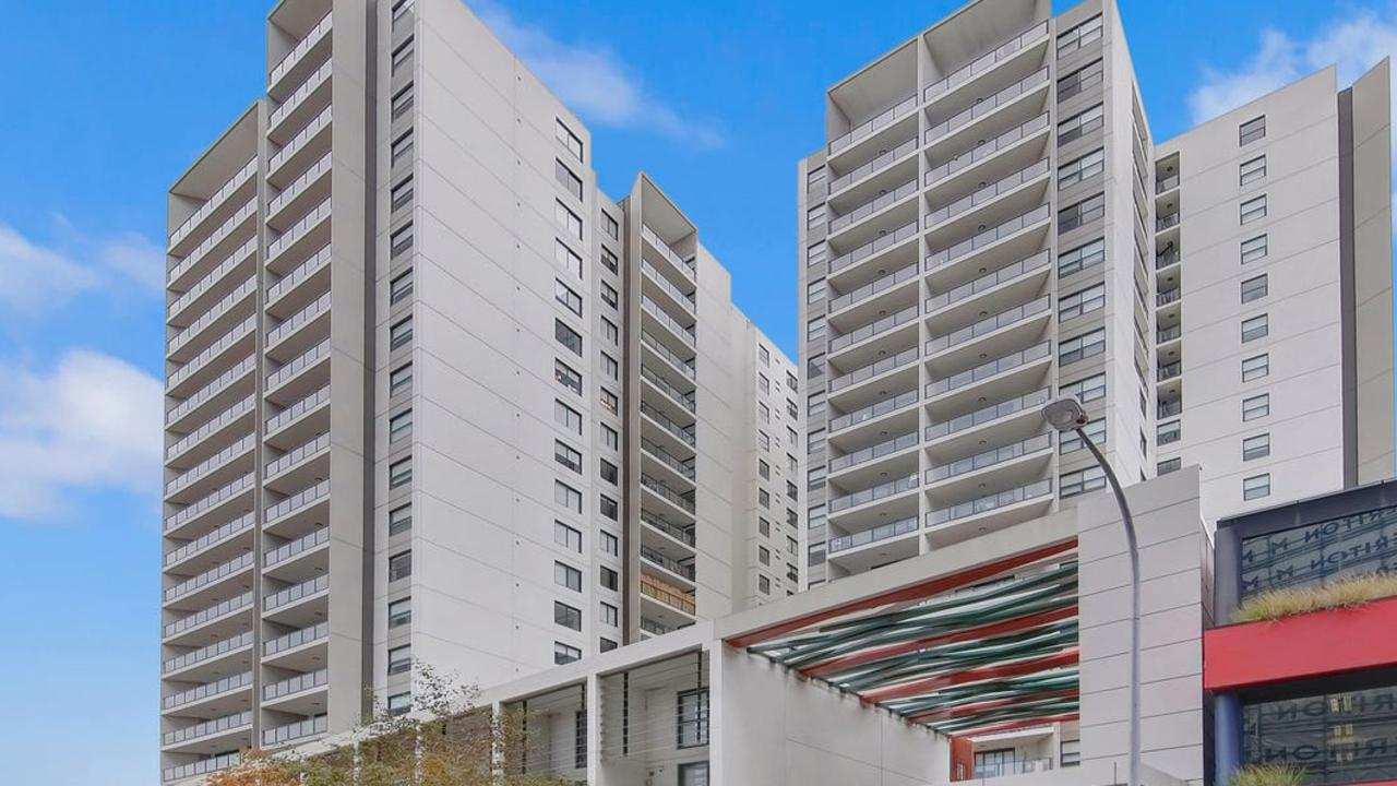 After being jailed, Hayne had to sell an apartment in this building in Parramatta.