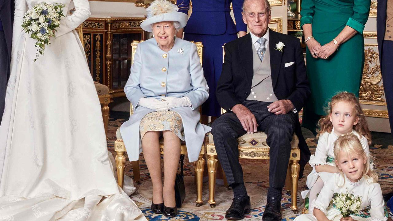 Look closely at her left foot … Picture: AFP/Buckingham Palace/Alex Bramall