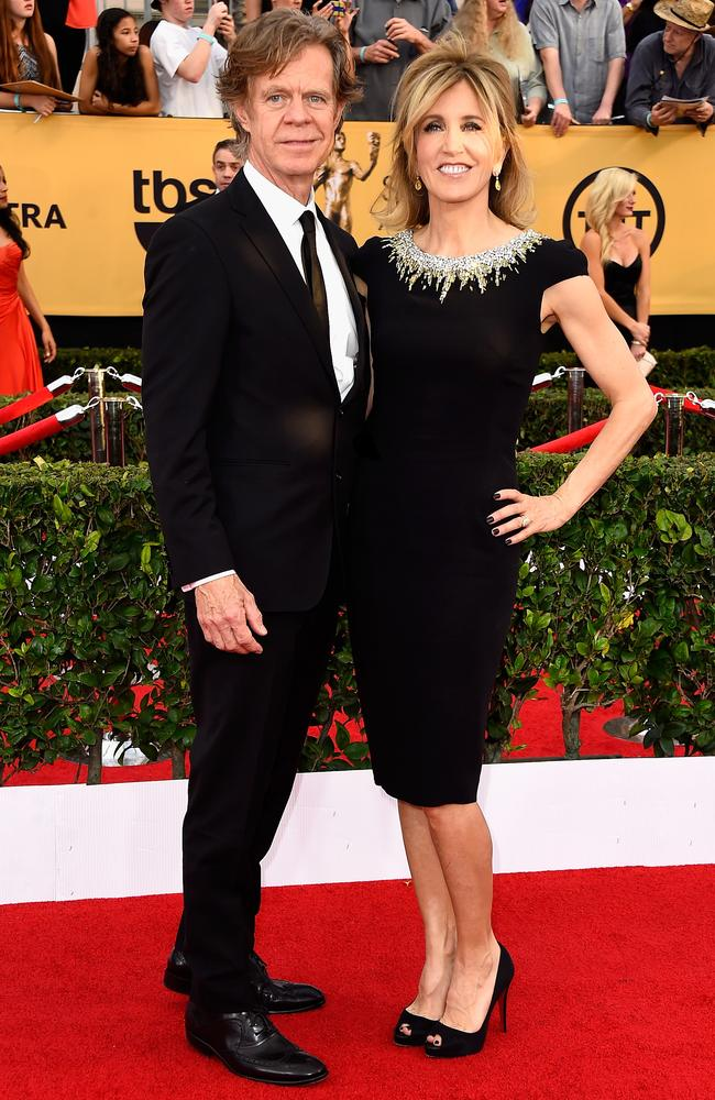 Husband and wife William H. Macy and Felicity Huffman attend the 21st Annual Screen Actors Guild Awards. Picture: Frazer Harrison / Getty Images