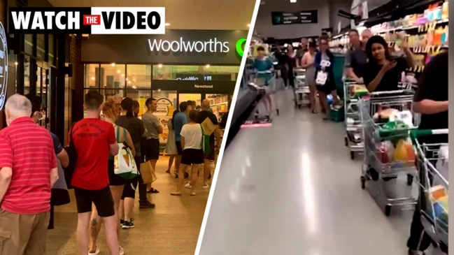 Brisbane supermarkets hit by panic buying