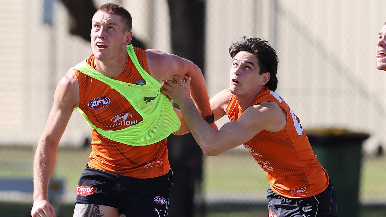 Carlton had a hit out against Richmond, Essendon and Melbourne players. Photo: Michael Klein.