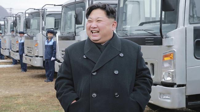 Threats by North Korean leader Kim Jong Un has impacted ticket sales to the 2018 Winter Olympics in South Korea. Picture: Korean Central News Agency/Korea News Service via AP