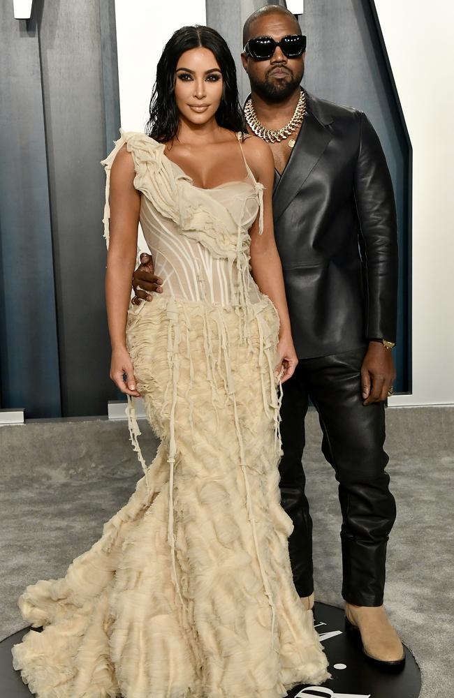 Kim and Kanye have put on a united front following the slew of tweets. Picture: Getty Images.