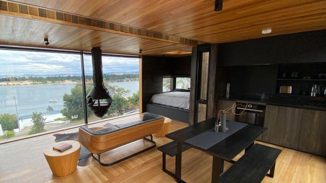 1/10The Pod, Lewisham, Tas Sweeping views to the Southern Ocean? Check. A home so stunning it featured on Grand Designs Australia? Check. A suspended fireplace that makes you feel like James Bond? Check. Absolutely zero wifi so you can revel in the solitude? Double check. From $280 per night. While you're there: Hit up the Lewisham Tavern for fish and chips with a view.