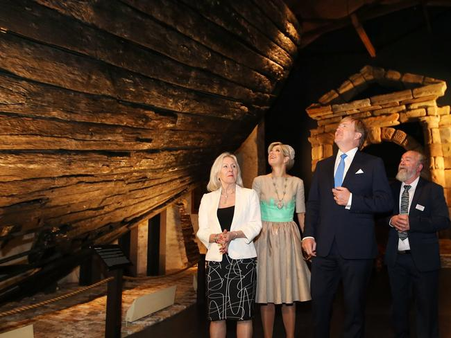 King Willem-Alexander and Queen Maxima with Dr Michael McCarthy and Diane Jones. Picture: Sharon Smith
