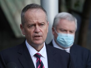 Former Labor leader Bill Shorten has lashed out at Prime Minister Scott Morrison saying he wouldn't be able to find Melbourne on a map.  Picture: NCA NewsWire / David Crosling