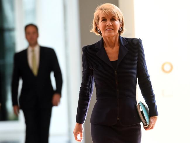 There's speculation that Julie Bishop could be Australia's next Governor-General. Picture: AAP