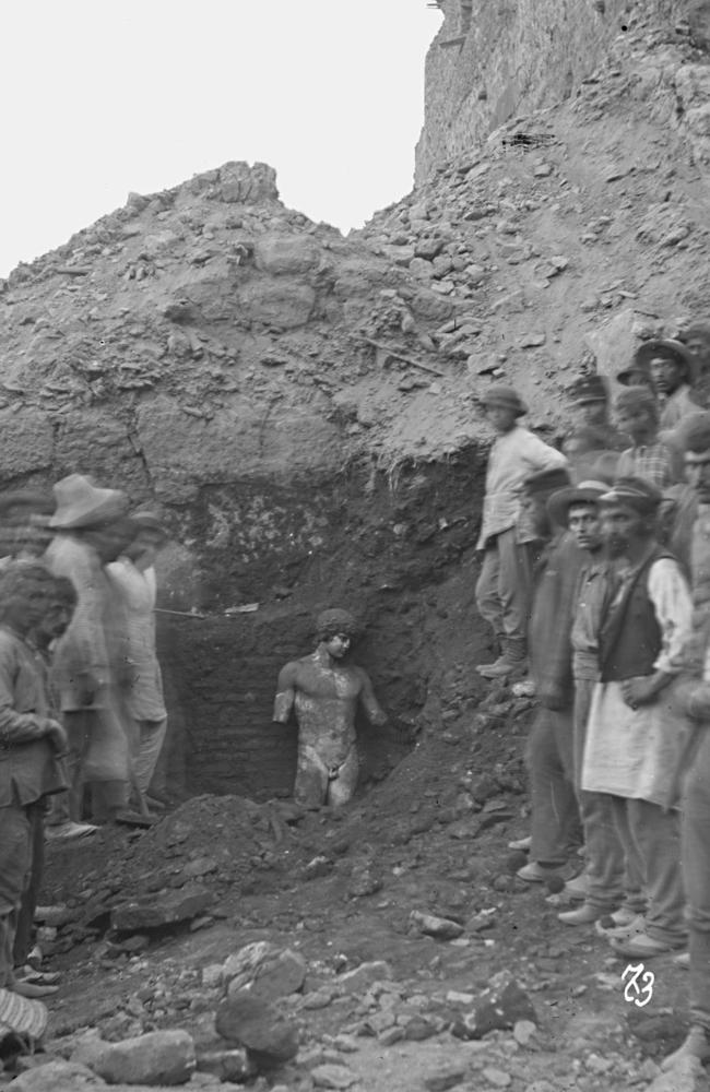 A status of Antinous is discovered in Delphi, 1894.